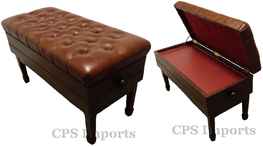 Adjustable Duet Size Concert Piano Bench Walnut Satin Leather  sc 1 st  KeytarHQ : piano stool mechanism - islam-shia.org
