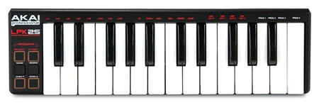 Akai Pro LPK25 25-Key Laptop Performance Keyboard Controller