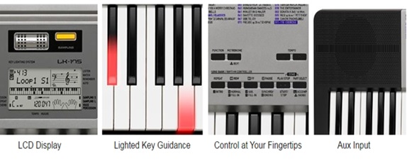 casio lk-175 lighted music keyboard