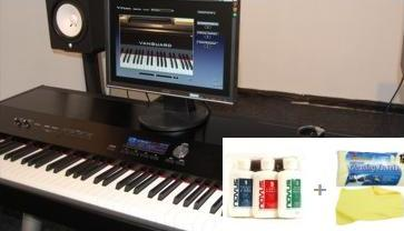 Digital Piano Synth Keyboard LCD Display