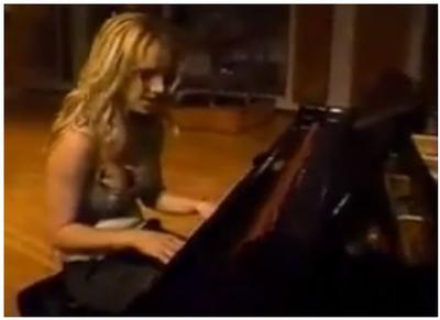 britney spears on the Piano