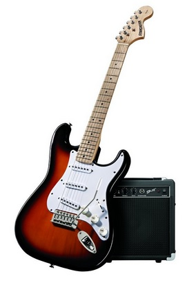 Fender Starcaster Strat Electric Guitar Bundle
