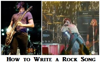 how to write a rock songs