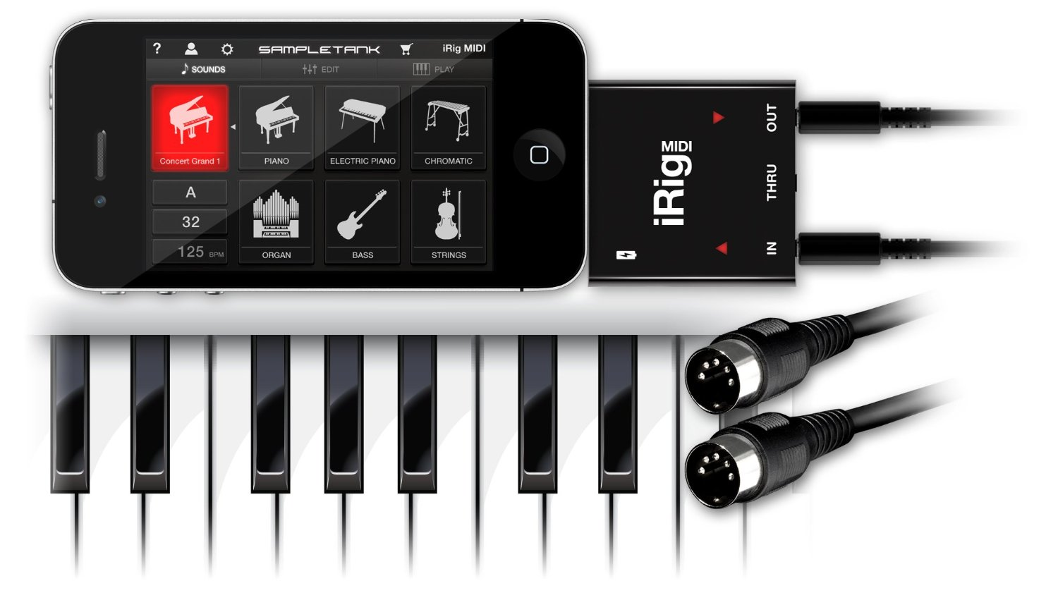 IK Multimedia iRig Midi for iPhone/iPod touch/iPad