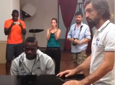 Mario Balotelli Playing the Italian National Anthem on the Piano