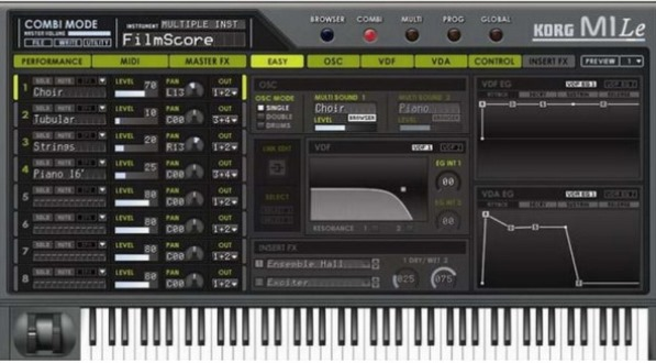 Midi keyboard software