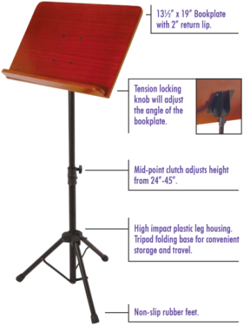 On-Stage Wooden Music Stand