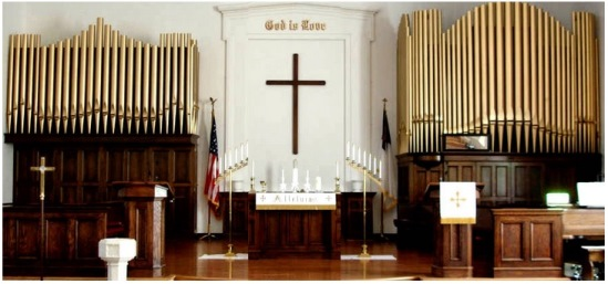 Pipe Organ in Church