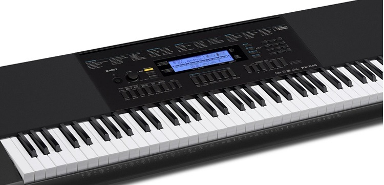 casio wk 245 76 key keyboard for beginners keytarhq music gear reviews. Black Bedroom Furniture Sets. Home Design Ideas