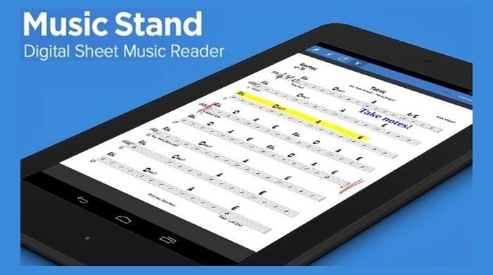 digital sheet music stand