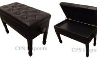ebony duet size leather adjustable artist piano-bench CPS