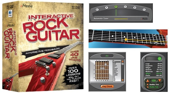 eMedia Interactive Rock Guitar: Makes it easy to play songs, chords ...
