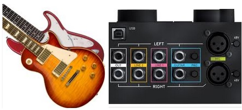 how to connect guitar to a home theater