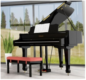 Phenomenal Ebony Black Leather Piano Bench Wood Double Duet Keyboard Caraccident5 Cool Chair Designs And Ideas Caraccident5Info