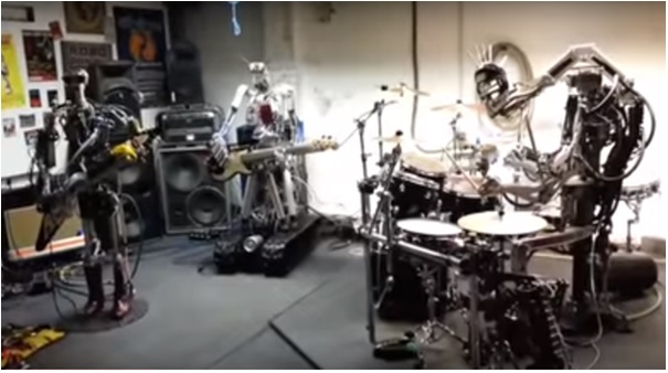 robots playing music