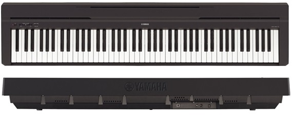 yamaha p45b digital piano perfect practice partner for the piano student keytarhq music gear. Black Bedroom Furniture Sets. Home Design Ideas